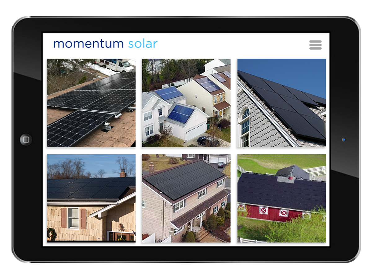 ipads with installs by Momentum Solar